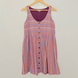 Madewell Small Striped Scoop Neck Sleeveless Dress